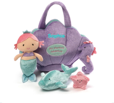 Personalized My Mermaid Adventure Playset by Gund