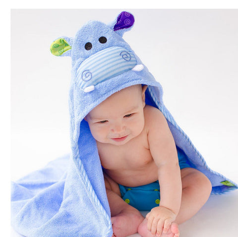 Toddler's Personalized Henry the Hippo Hooded Towel