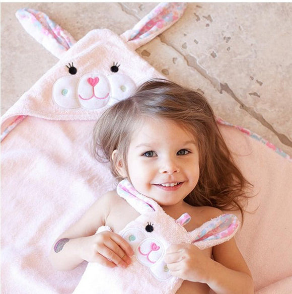 Toddler's Personalized Little Bunny Hooded Towel