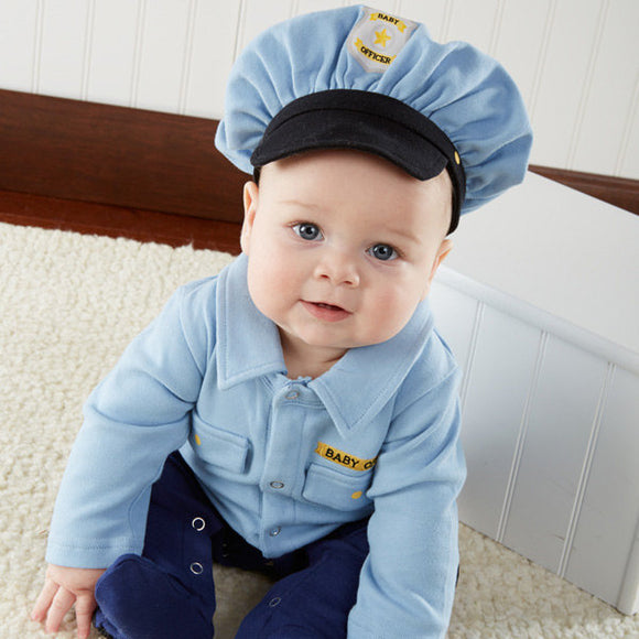 Personalized Baby Officer Two-Piece Layette Set