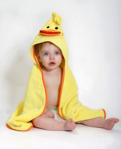 Toddler's Personalized Puddles the Duck Hooded Towel