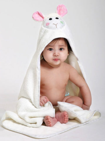Toddler's Personalized Lola the Lamb Hooded Towel