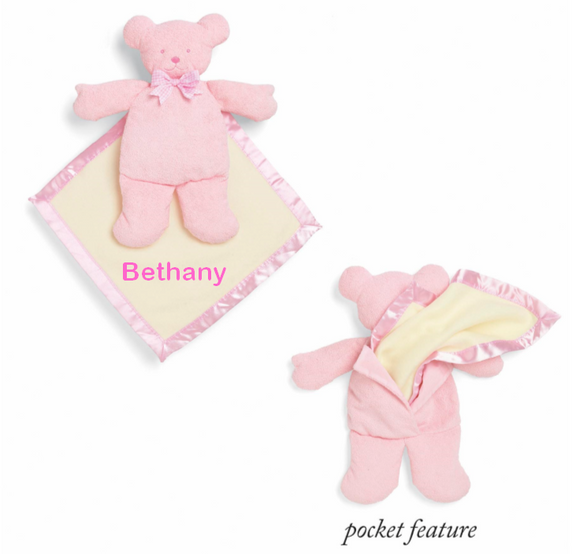 Personalized Baby Bear Cozy - Pink