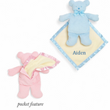 Personalized Baby Bear Cozy - Blue
