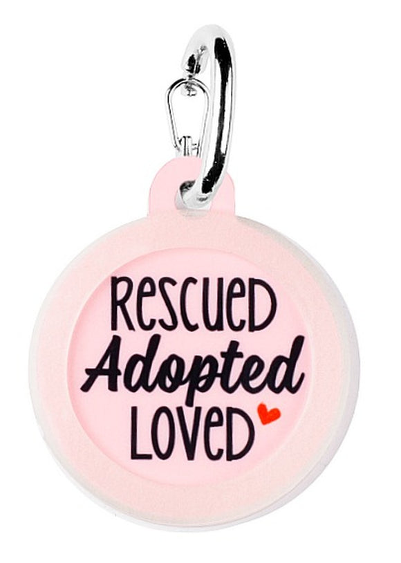 Rescued Adopted Loved - Pet ID Tag