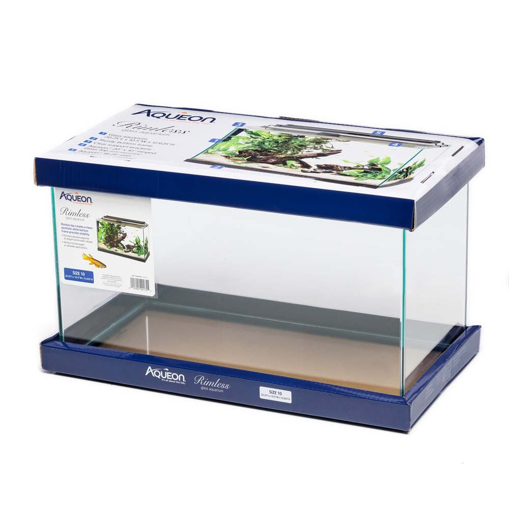 Aqueon rimless rectangle aquarium tank 10gal