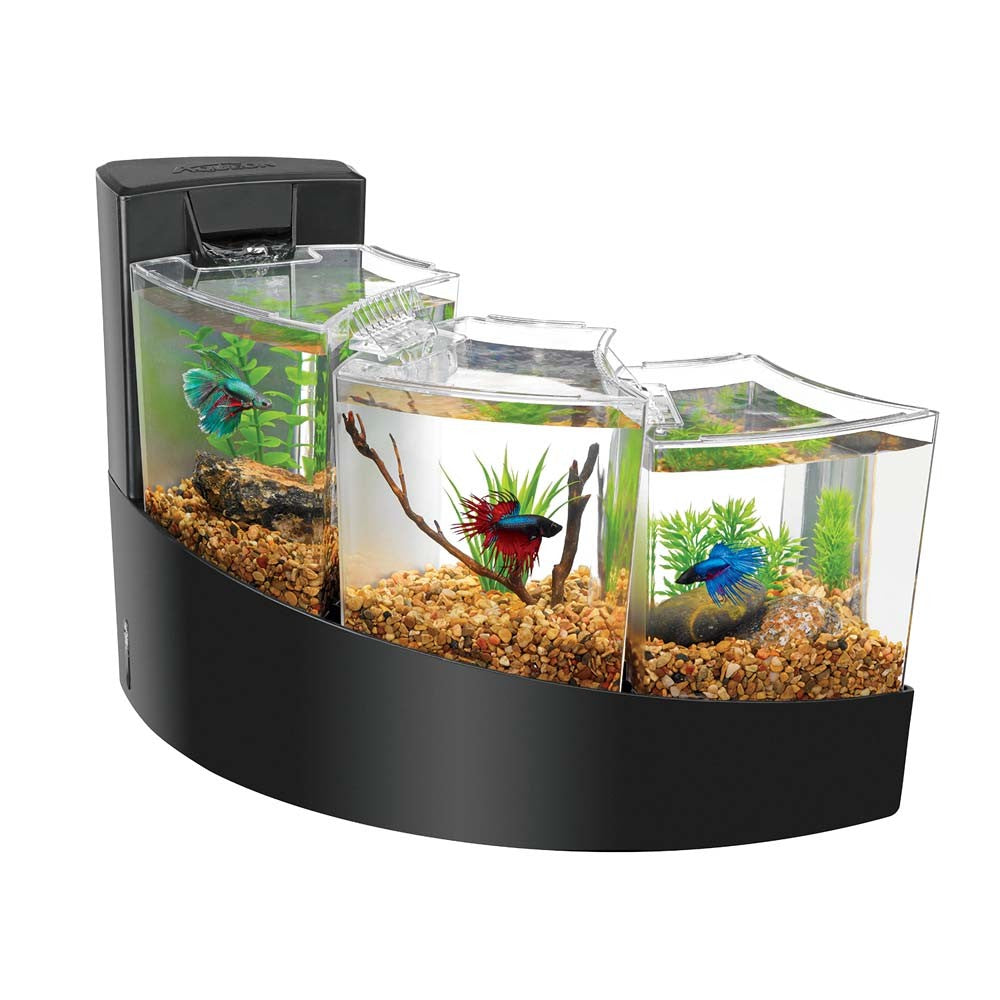 Aqueon betta falls black tank kit