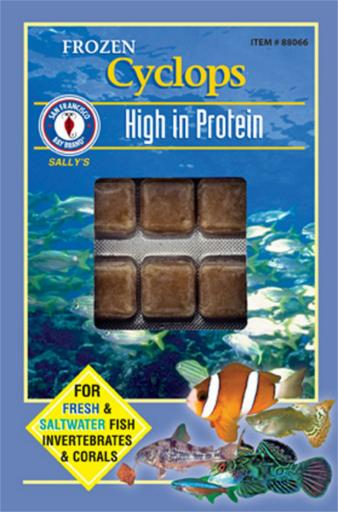 San Francisco Bay Brand Frozen Cyclops Fish Food Cubes 3.5oz