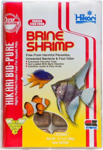 Hikari Bio-Pure Frozen Brine Shrimp Fish Food Cube Pack 3.5oz