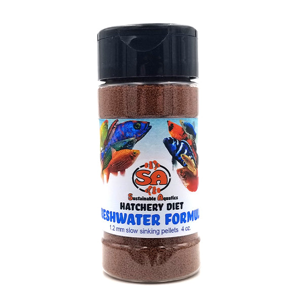 1.2 mm Freshwater Hatchery Diet 4oz