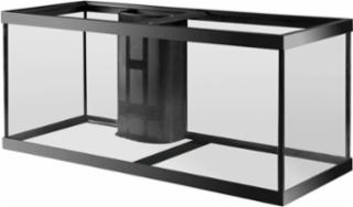 Aqueon 75 gallon aquarium 1 overflow black 48x18x24