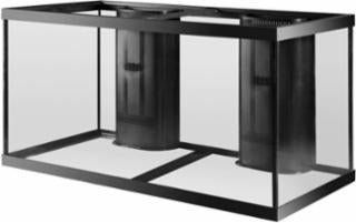 Aqueon 120 Gallon Aquarium 2 Overflows Black 48x24x24