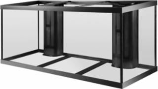 Aqueon 210 gallon aquarium 2 overflows black 72x24x29