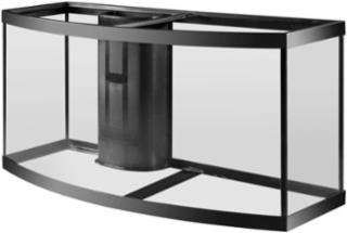 Aqueon 72 gallon bow front aquarium 1 overflow black 48x18x23
