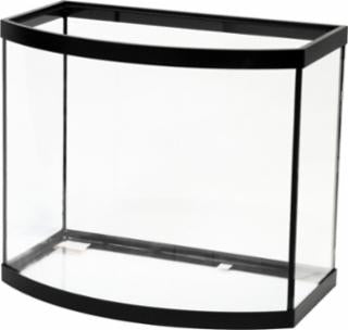 Aqueon 26 Gallon Bow Front Aquarium Black 24x15x21