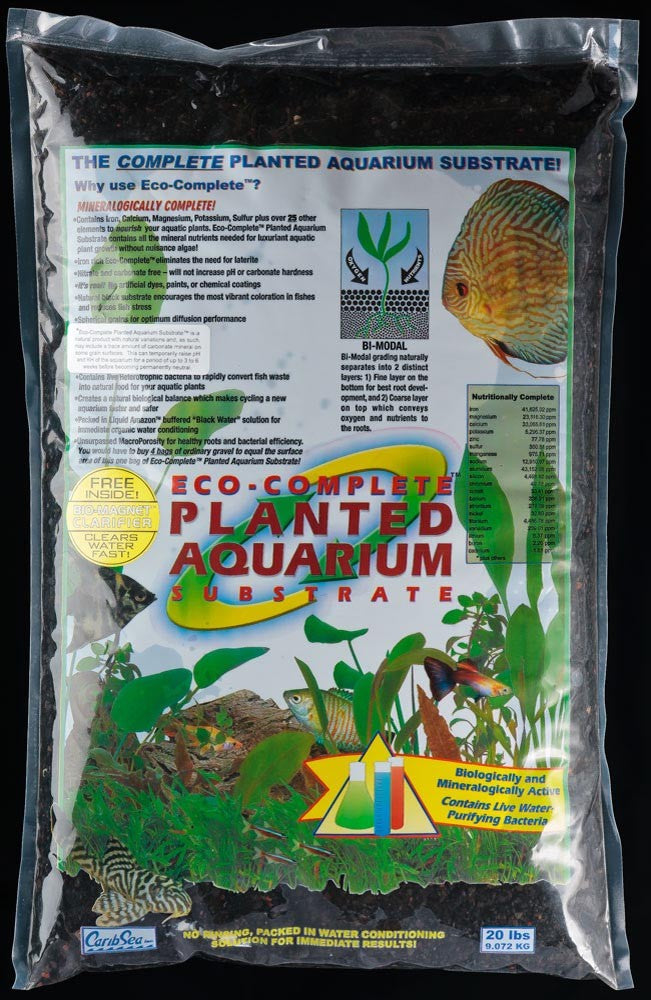 CaribSea Eco Complete Planted Substrate Black 20lb