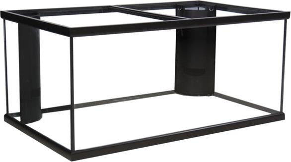 125 Gallon Marineland Corner-Flo Aquarium 2 Overflow Black 72x18x22