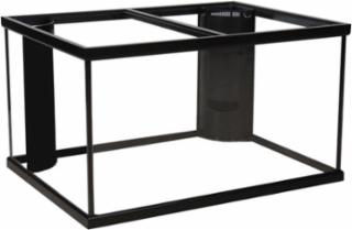150 Gallon Marineland Corner-Flo Aquarium 2 Overflow Black 72x18x27 - Discontinued