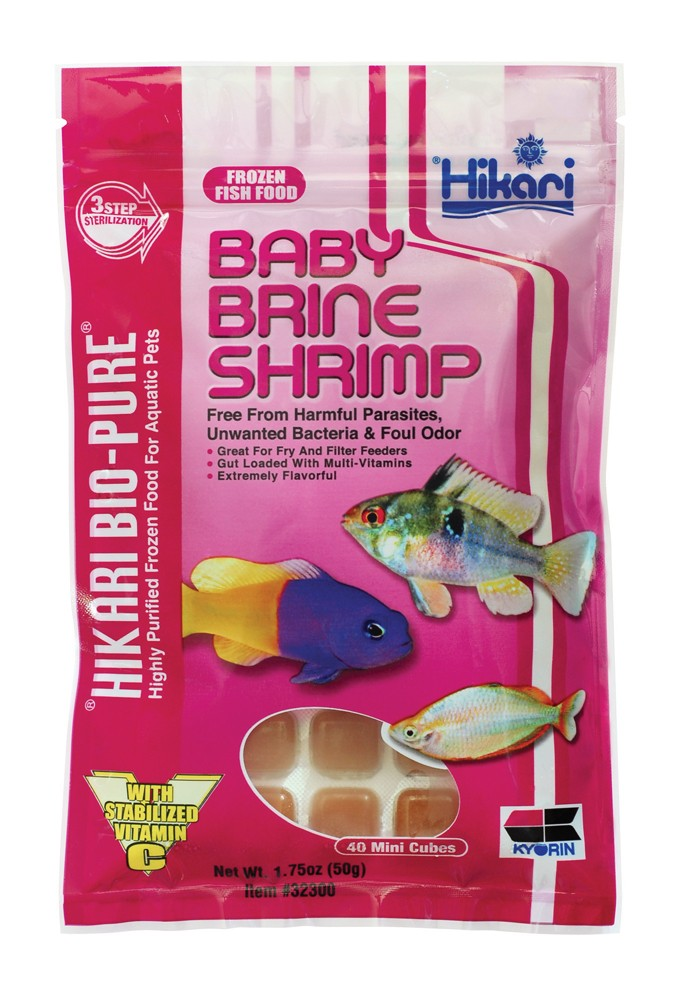 Hikari Bio-Pure Frozen Baby Brine Shrimp Fish Food Mini Cubes 1.75oz