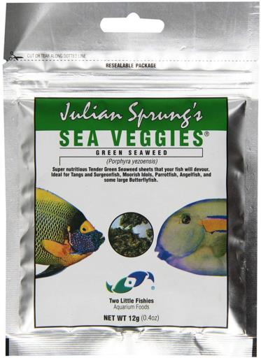Two Little Fishies Sea Veg-Green Seaweed .4 oz. (Pouch)