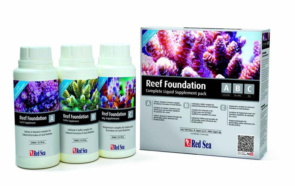 Red Sea Reef Foundation ABC 3 Pack - 250 ml.
