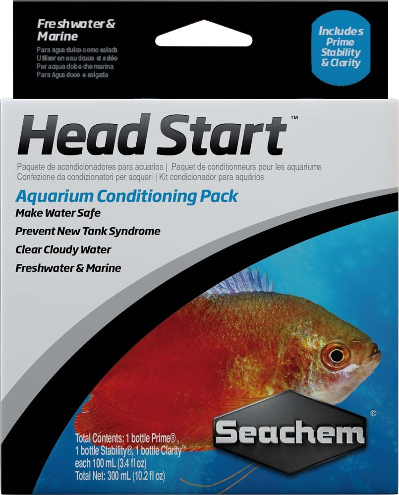 Seachem Head Start Pack 3 100ml/ 3.4oz