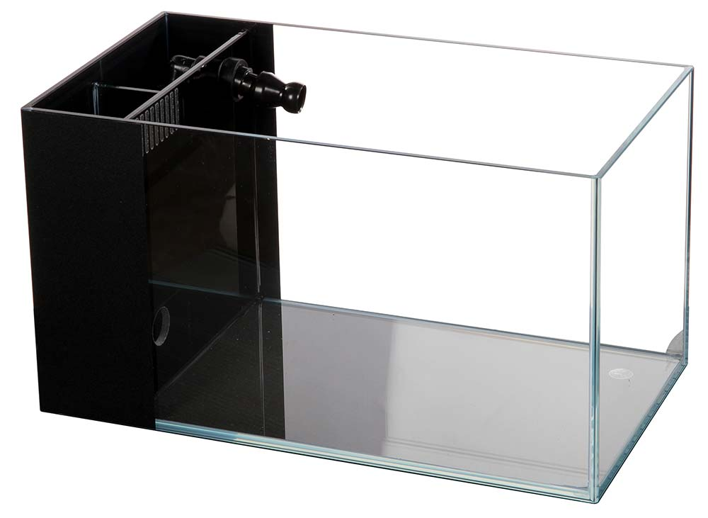 3.8 Gallon CRYSTAL Aquarium 45 Degree Low Iron Ultra Clear (with Built-In Side Filter)