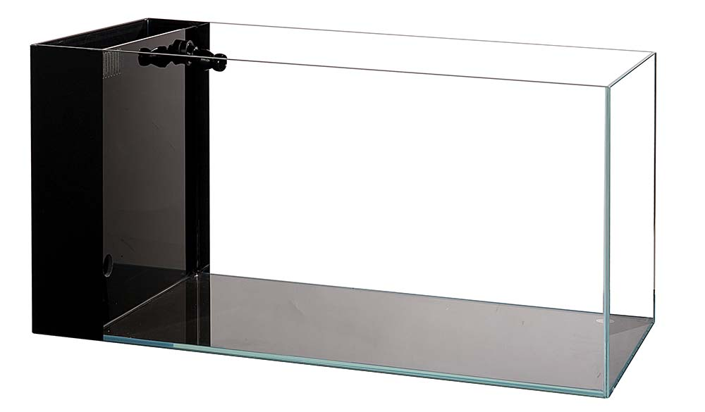 14 Gallon CRYSTAL Aquarium 45 Degree Low Iron Ultra Clear (with Built-In Side Filter)