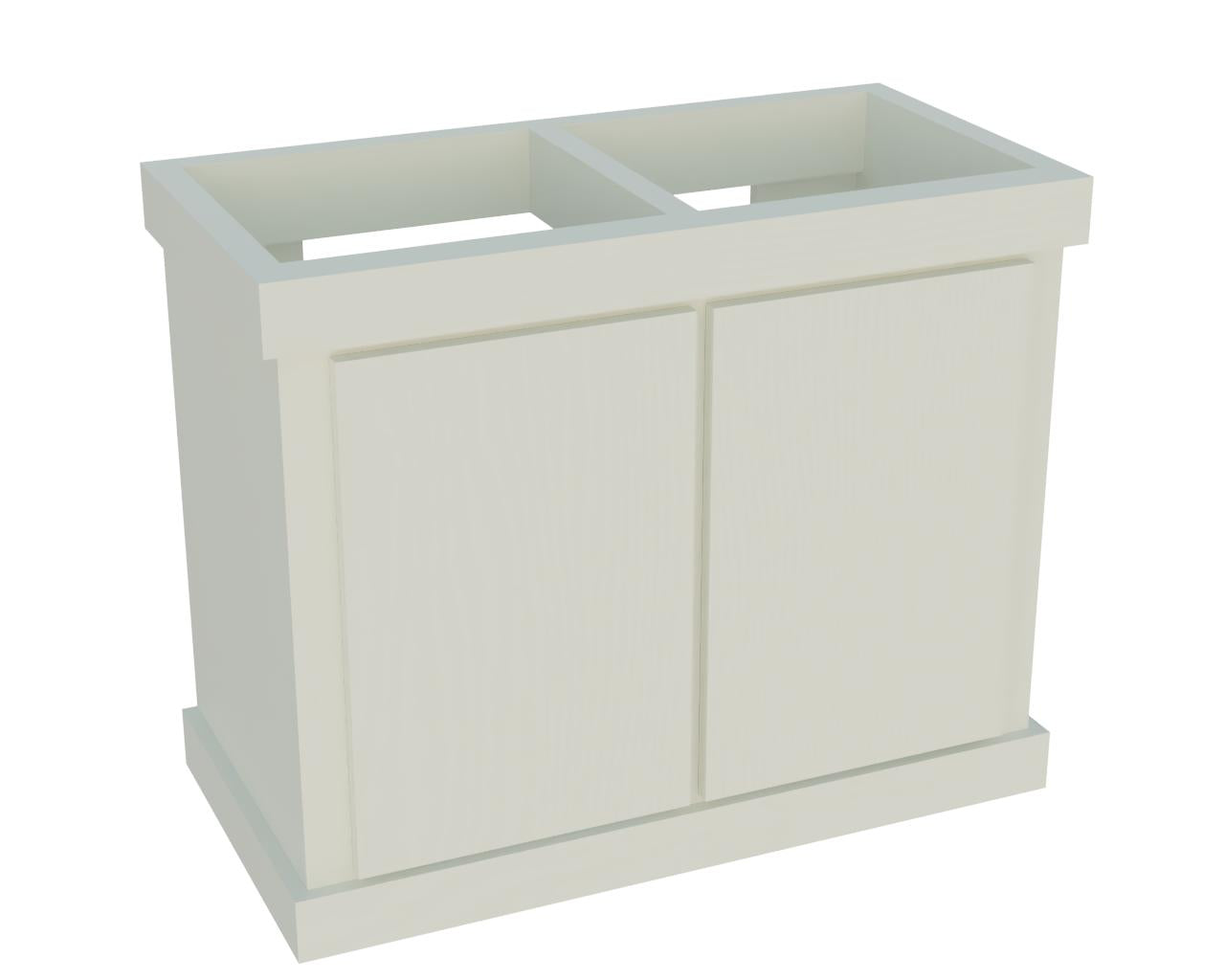 "OceanVue 50 36x18 Wood Stand 30"" Tall White"