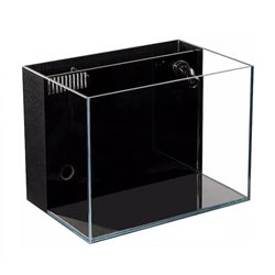10 Gallon CRYSTAL Aquarium 45 Degree Low Iron Ultra Clear (with Built-In Back Filter)
