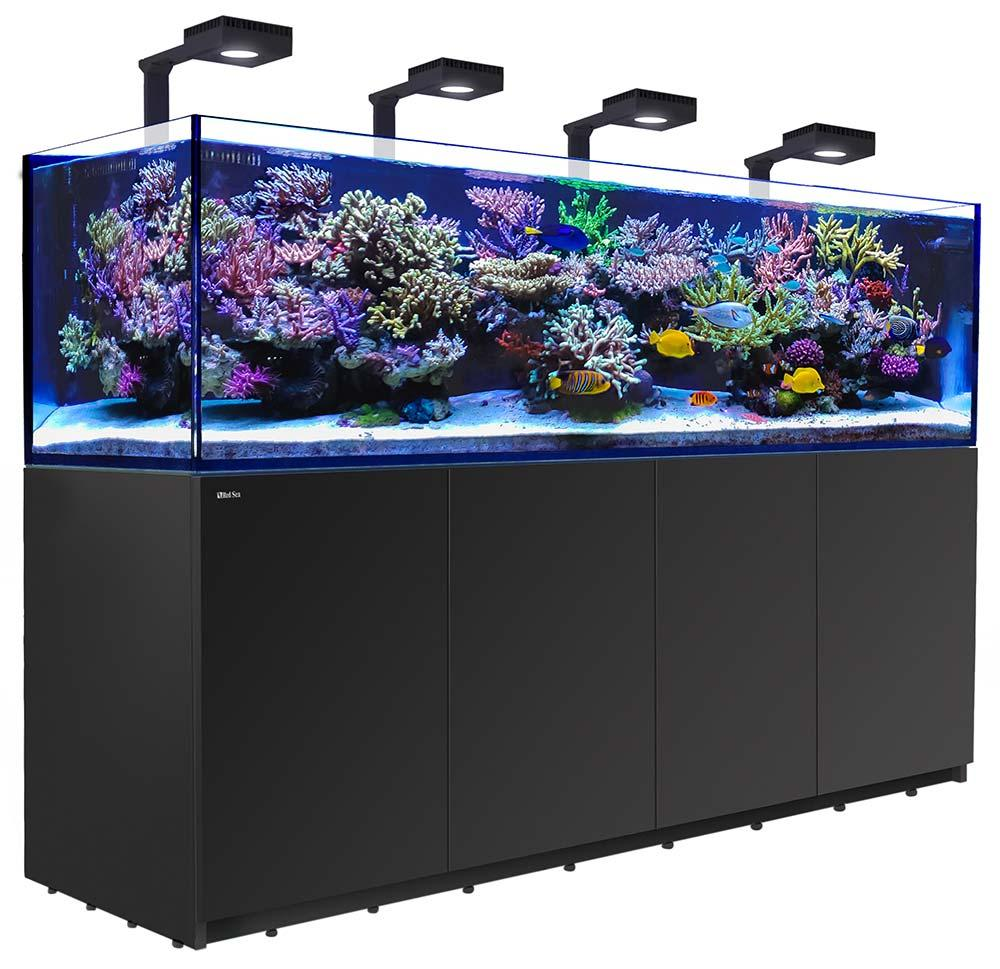 Red Sea Reefer 3XL 900 Deluxe Aquarium w/ ReefLED 90 Lights - 240 Gallon (Black) Custom Installation