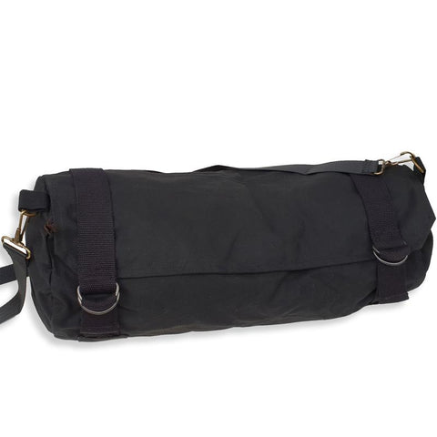 Biker's Oilskin Jacket Bag in Black