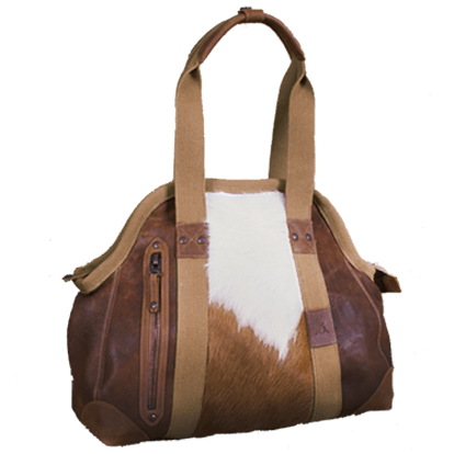 Cowhide Doctors Bag in Brown - Kakadu Traders Australia