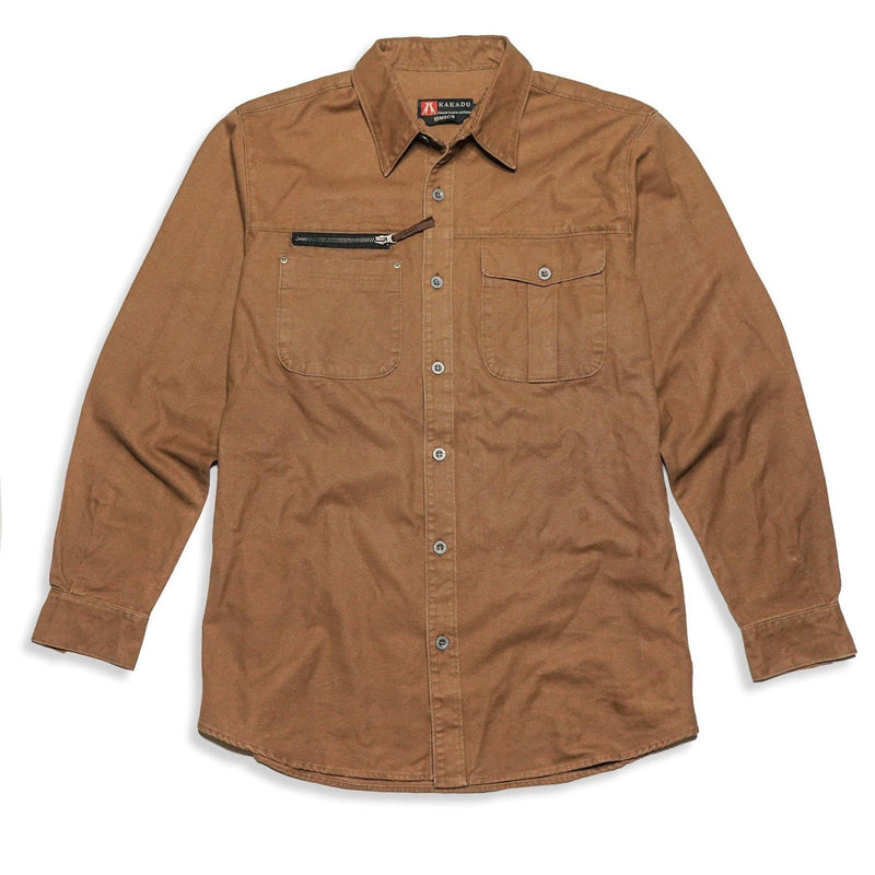 Brighton Shirt in Tobacco - Kakadu Traders Australia