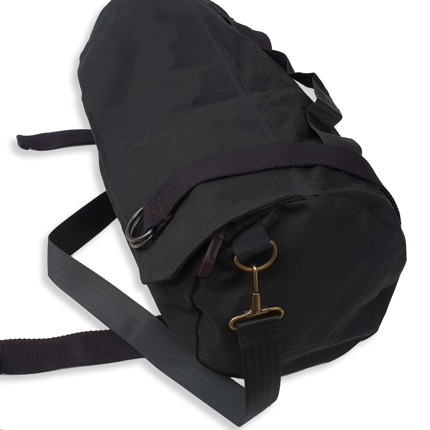 Biker's Oilskin Jacket Bag in Black - Kakadu Traders Australia
