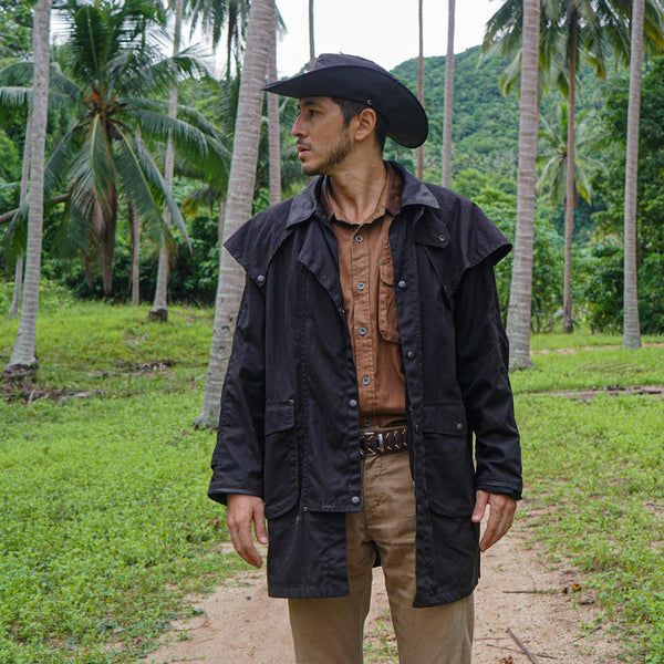 Workhorse Drovers Jacket in Black - Kakadu Traders Australia