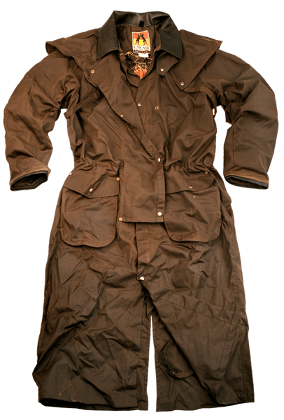 5O01 - IRON BARK DROVERS COAT    Brown