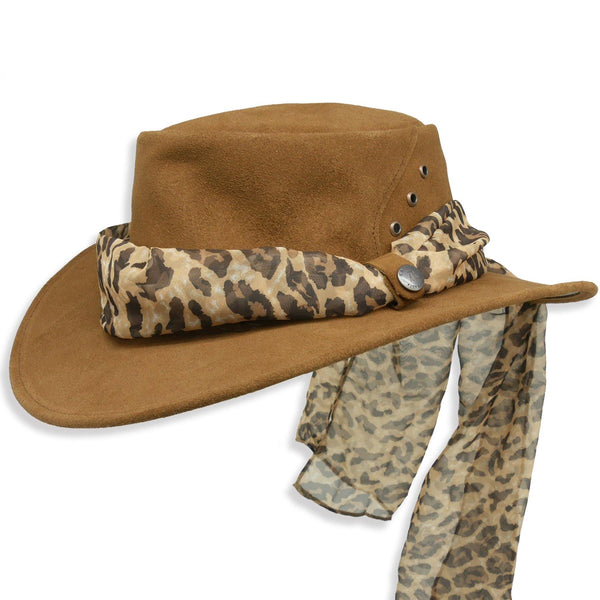 The Alice with Leopard Scarf in Brown - Kakadu Traders Australia