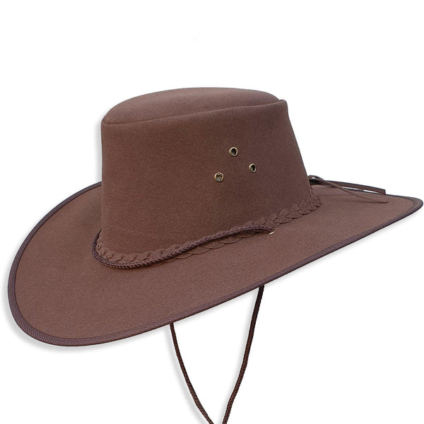Kalgoorlie Wide Brim Soaka In Brown - Kakadu Traders Australia