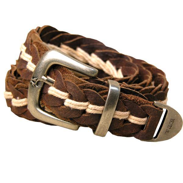 8A05 - TUCKER HAND BRAIDED BELT    Brown