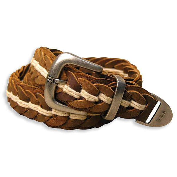 Tucker Hand Braided Belt In Tobacco - Kakadu Traders Australia
