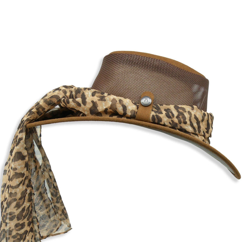 Bendigo Breeze with Leopard Scarf in Brown - Kakadu Traders Australia