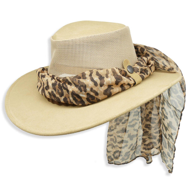 Bendigo Breeze with Leopard Scarf in Sand - Kakadu Traders Australia