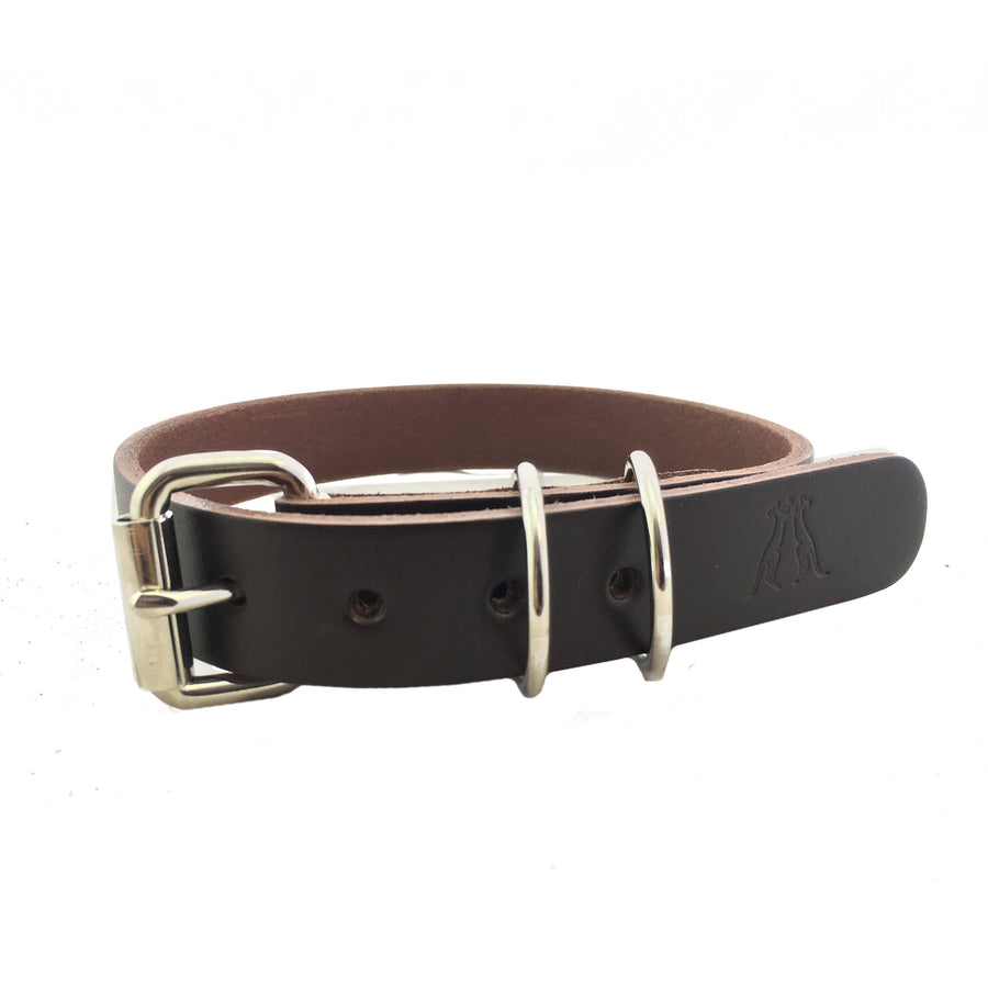 Dog Collar in Brown 25mm