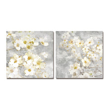 Load image into Gallery viewer, DYC 10059 2PCS White Flowers Print Art Ready to Hang Paintings