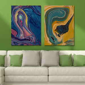 MY43-CX - 113-168 Fashion Abstract Print Art Ready to Hang Paintings 2PCS