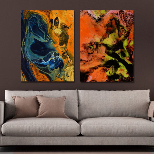 MY43-CX - 115-197 Fashion Abstract Print Art Ready to Hang Paintings 2PCS
