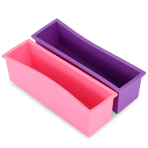 1.2L Silicone Rectangle Cake Mould for Homemade Craft Soap Cake DIY Bread Loaf Toast