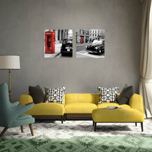 Load image into Gallery viewer, W141 Street Scenery Unframed Art Wall Canvas Prints for Home Decorations 2 PCS