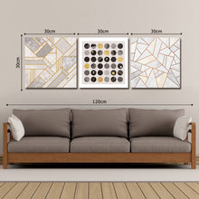 Load image into Gallery viewer, DYC 10040 3PCS  Boreal Europe Geometric Graph Print Art Ready to Hang Paintings
